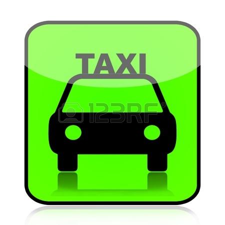 13054046-taxi-auto-zelená-značka-ikona-izolovaných-na-bílém-pozadí